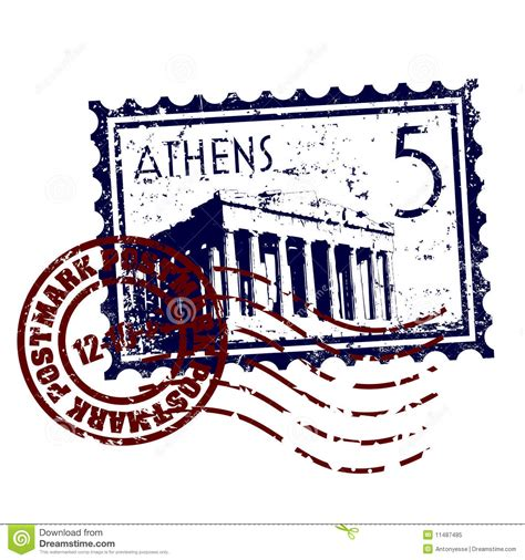 Style Stam by Athens St Or Postmark Style Grunge Royalty Free Stock