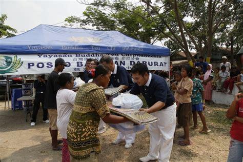 paket bantuan musibah kebakaran di tpa rawa kucing yayasan buddha tzu chi indonesia