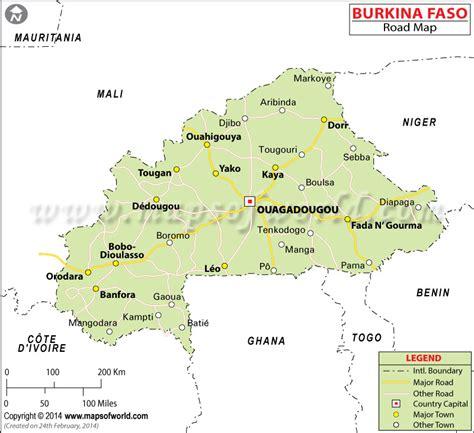 burkina faso road map