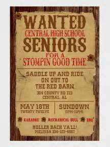 wanted poster western invitation by graysgraphicdesigns