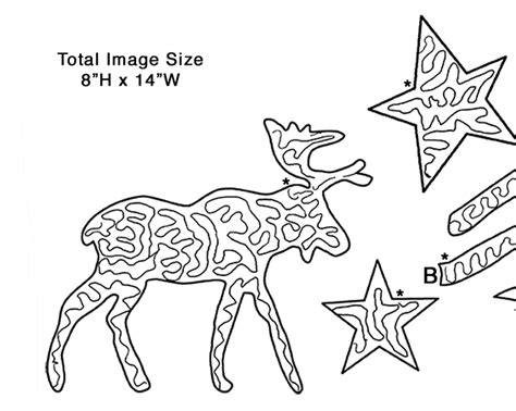 Folk Art Moose Applique Favecrafts Com Moose Cut Out Template
