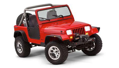 Jeep Wrangler Flat Fenders Bushwacker Flat Style Fender Flares For 87 95 Jeep