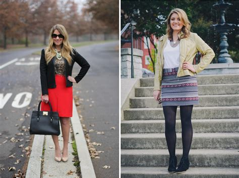 two ways leather jacket with a skirt by m