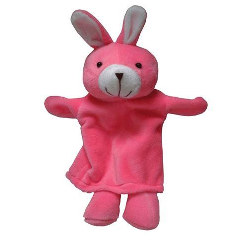 boneka tangan hewan kelinci kayu seru