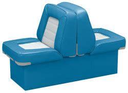 light blue boat seats back to back lounge seat deluxe skyline light blue white
