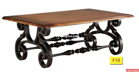 Decorating: Attractive Wrought Iron Coffee Table Make