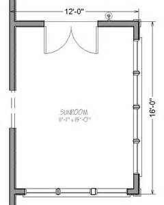 Sunroom Floor Plans by 12 By 16 Sunroom Addition Plans Package Links Simply