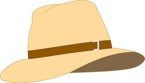Topi Fedora Hat Painter Black List clipart beige fedora hat
