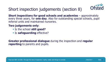 section 8 inspection food and design and technology at gcse through the lens of