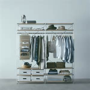 use as wardrobe storage unit shelf compact muji