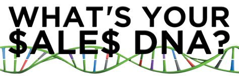 Dna Sles Are In what s your sales dna about the author