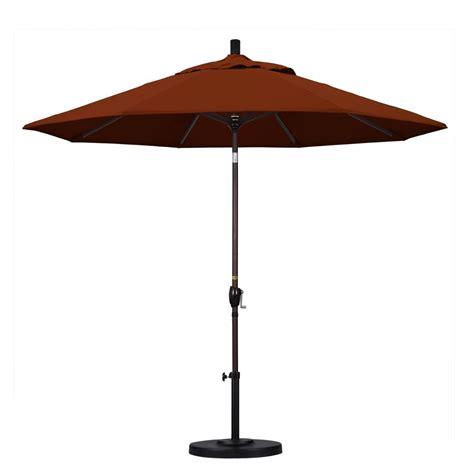 9 Patio Umbrella Hton Bay 9 Ft Aluminum Patio Umbrella In Chili 9900 01004011 The Home Depot