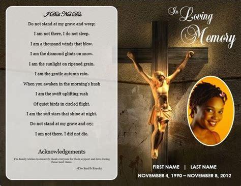 memorial cards for funerals selimtd free funeral program templates jesus cross bifold