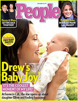 Drew Barrymore Looking Pretty On The Cover Of Janes March Issue by Drew Barrymore Debuts Baby Olive On Cover