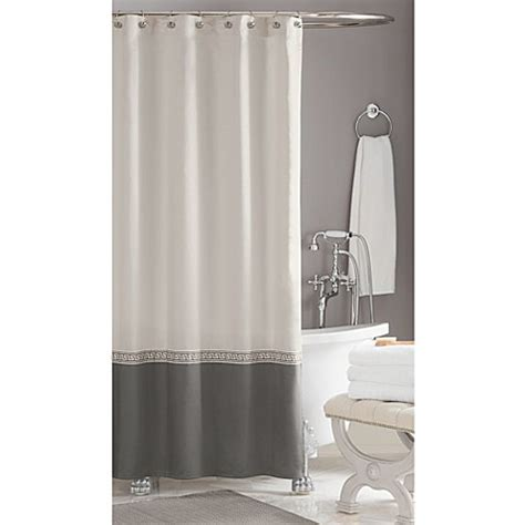 greek key shower curtain wamsutta 174 greek key hotel shower curtain bed bath beyond