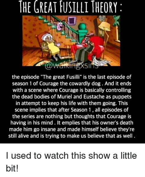 courage the cowardly last episode 25 best memes about great fusilli great fusilli memes