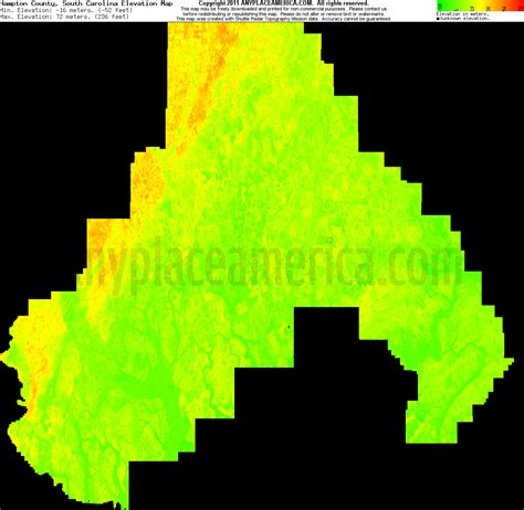 carolina elevation map free hton county south carolina topo maps elevations