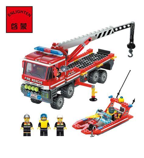 fire boat construction enlighten fire rescue fire boat building blocks sets