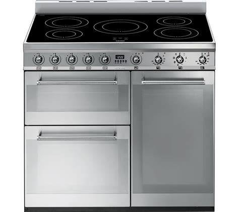 induction cookers reviews buy smeg symphony 90 cm electric induction range cooker stainless steel free delivery currys