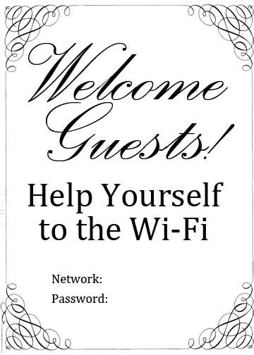Wifi Password Card Template by Wifi Password Template Free Pictures To Pin On
