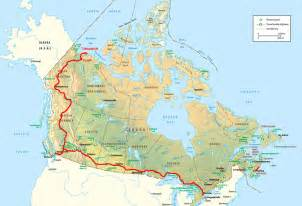canada road maps road trip route