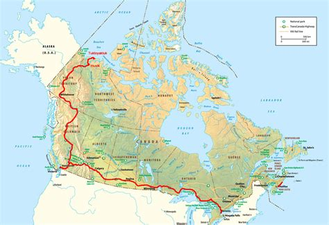 map of us and canada highways trans canada highway on banff national parks