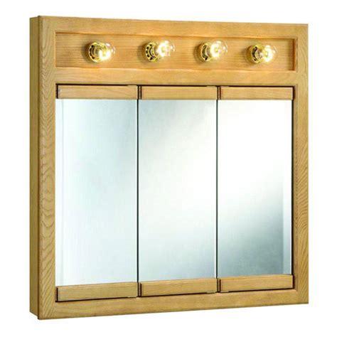 light oak bathroom wall cabinet design house 530600 richland nutmeg oak 4 light tri view