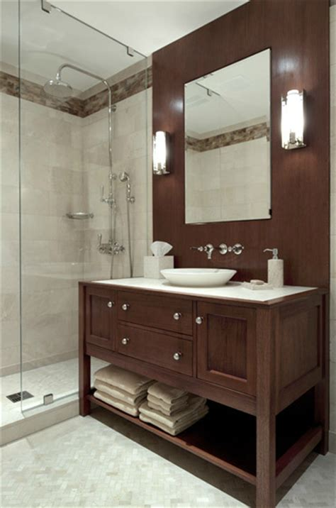 brown bathroom walls brown bathroom vanity contemporary bathroom carole