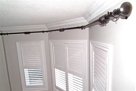 bay window traverse curtain rods traverse curtain rods for bay windows home design ideas