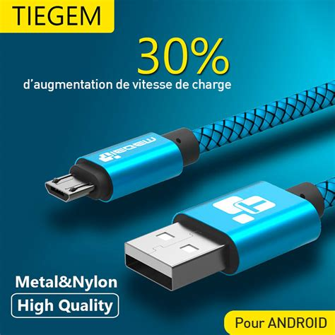 Kabel Data Charge Sync Data 1m cable usb pour android haute qualit 233 charge rapide et
