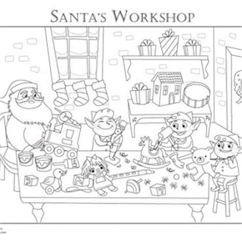 coloring pages of santa s workshop santa s workshop coloring page coloring pinterest