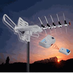 uhf vhf fm lified outdoor freedom tv antenna remote controlled