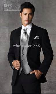 Wholesale two buttons black groom tuxedos notch lapel groomsmen men