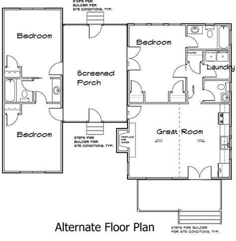 dog trot style floor plans 3 bedroom dog trot house plan 92318mx architectural