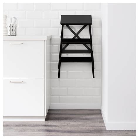 step ladder ikea bekv 196 m stepladder 3 steps black 63 cm ikea