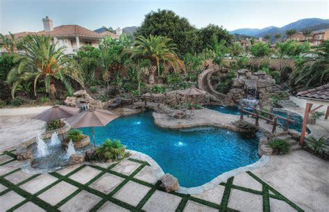 poolside landscaping southern california pool builder splash pools construction