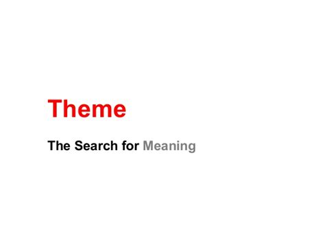 finding theme in literature video finding theme in literature