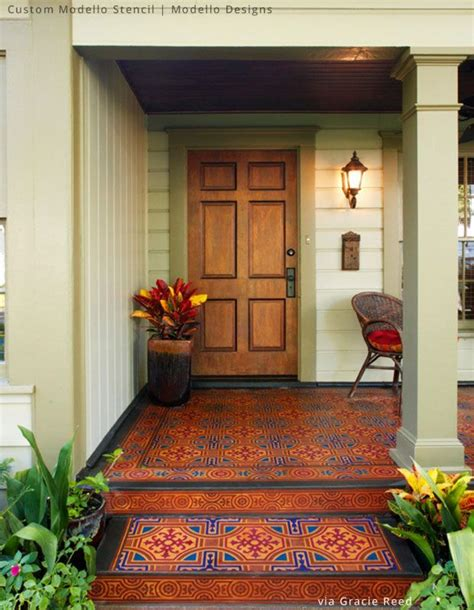 314 best images about stenciled painted floors on indoor rugs stair risers and