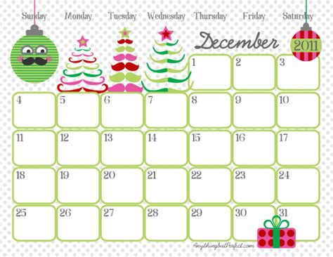 printable decorated december 2014 calendar be different act normal free printable calendar