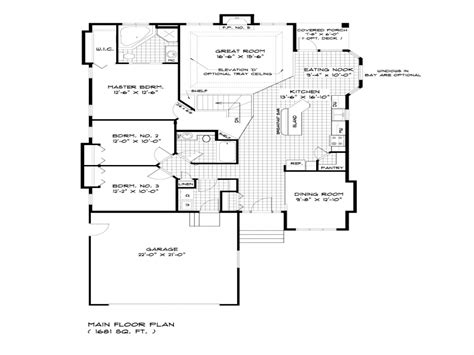 Single Story Bungalow House Plans by Bungalow House Floor Plans Single Storey Bungalow House