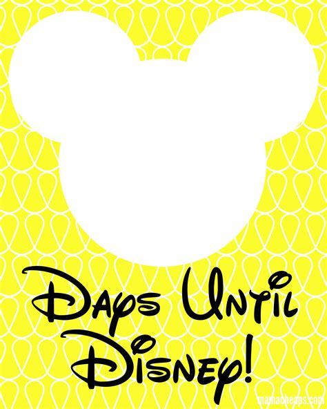 www free mickey inspired disney trip countdown free printable