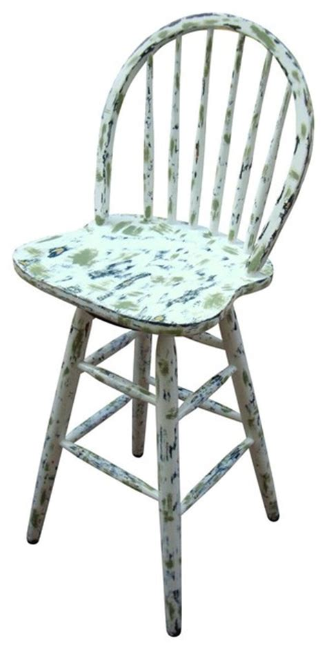 cottage style bar stools consigned country cottage painted distressed bar