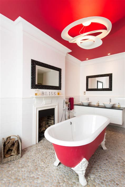 red black and white bathroom black white and red in the bathroom abode