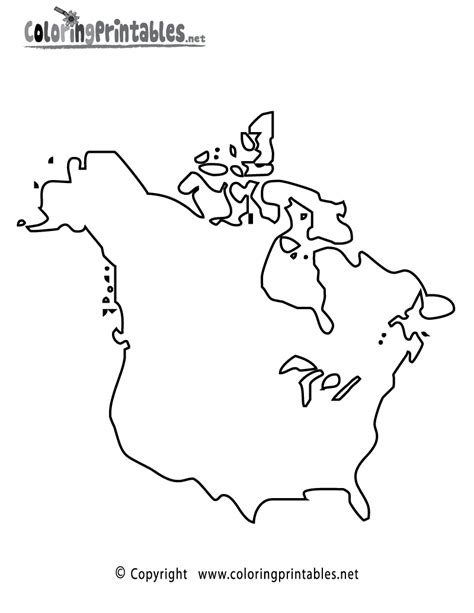 north america printable coloring pages