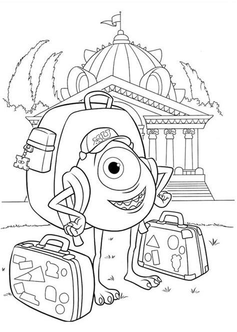 printable coloring pages monsters university monsters university coloring pages koloringpages