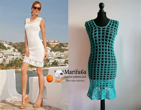 how to crochet summer dress tunic free tutorial pattern by