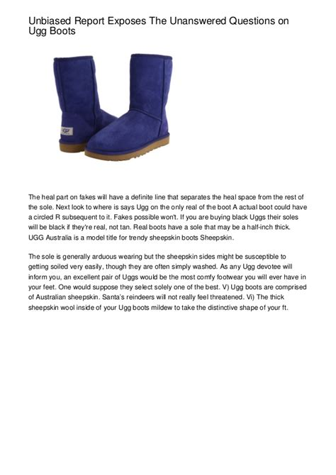 unbiased report exposes the unanswered unbiased report exposes the unanswered questions on ugg boots