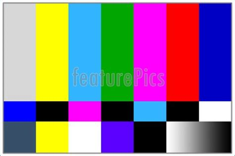color pattern quiz television colored bars signal image
