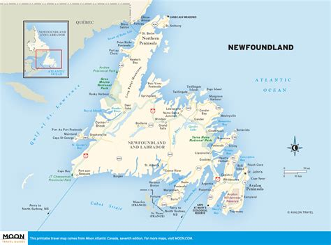 newfoundland map printable travel maps of atlantic canada moon travel guides