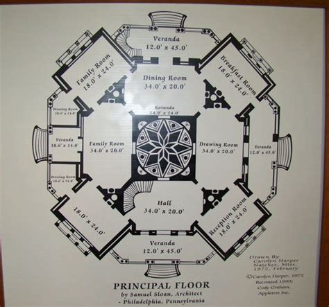 Southern Mansion House Plans by Longwood In Natchez Mississippi House